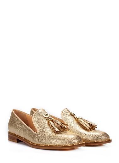 İnci Loafer Ayakkabı Altın